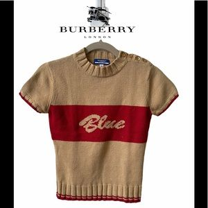 Casual Burberry Knitted Top Blouse